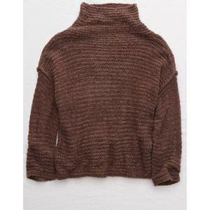 Aerie Babe Chenille Turtleneck Sweater NWT